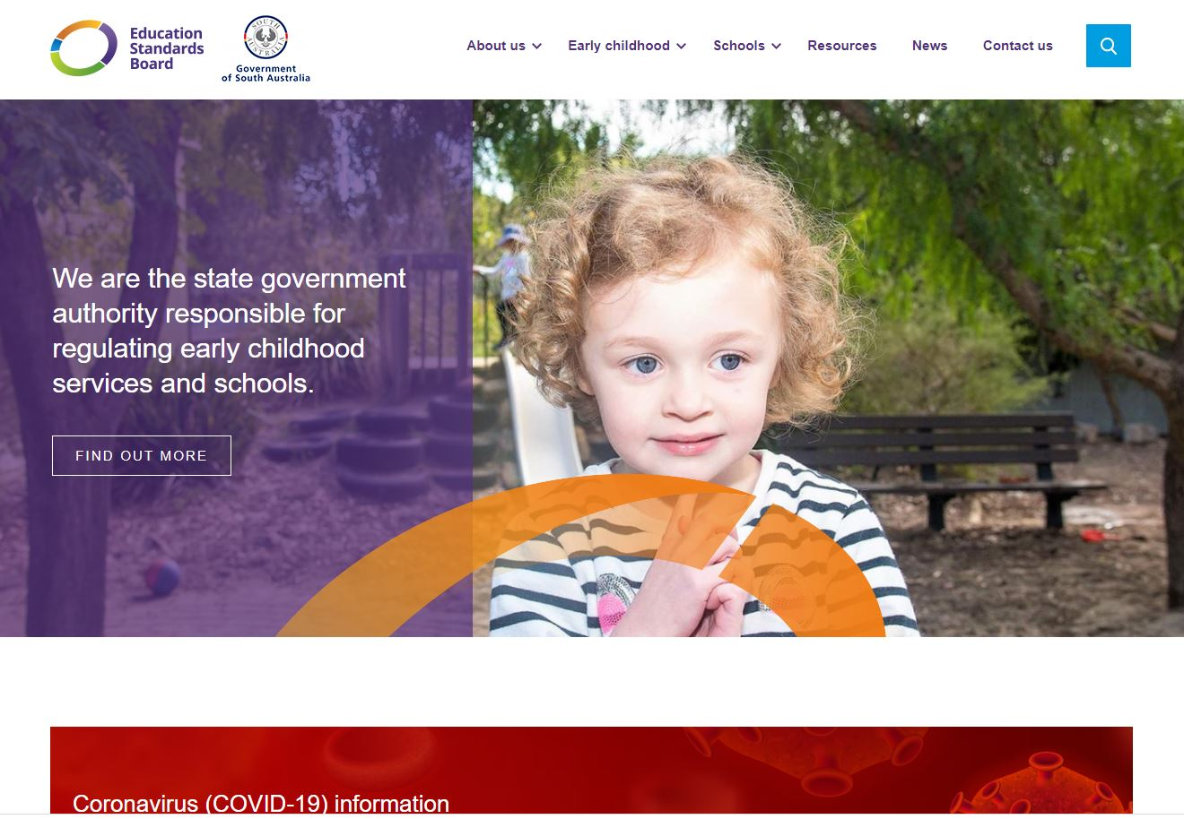 Education Standards Board website home page