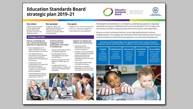 Image of Education Standards Board strategic plan 2019-21
