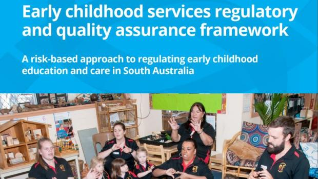 Top part of 'Early childhood services regulatory and quality assurance framework' document