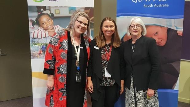 Inclusion Forum in Whyalla: Bec Hillson from Education Standards Board, Natalie Gentle from Gowrie SA and Rhonda LIvingstone from ACECQA