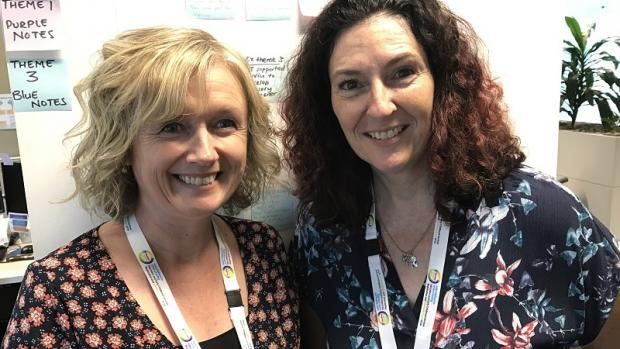 Sinead Atkins and Leah Curtis, new authorised officers with the Education Standards Board