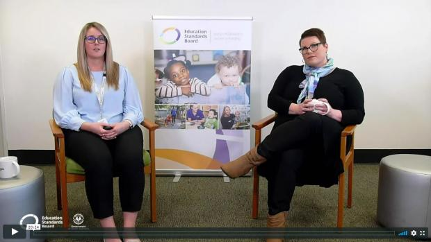 Nat Byrnes and Bec Hillson presenting a webinar for the Education Standards Board